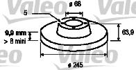 Disque de frein - VALEO - 186294