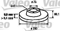 Disque de frein - VALEO - 186295
