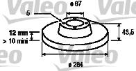 Disque de frein - VALEO - 186298