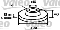 Disque de frein - VALEO - 186300