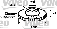 Disque de frein - VALEO - 186304