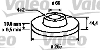 Disque de frein - VALEO - 186306