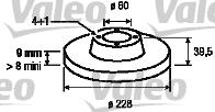 Disque de frein - VALEO - 186311