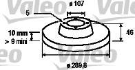 Disque de frein - VALEO - 186374