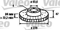 Disque de frein - VALEO - 186401