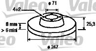 Disque de frein - VALEO - 186416