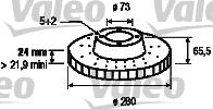 Disque de frein - VALEO - 186418