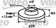 Disque de frein - VALEO - 186470