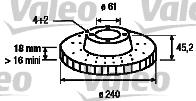 Disque de frein - VALEO - 186482