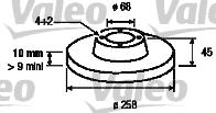 Disque de frein - VALEO - 186487