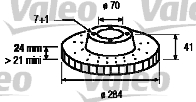 Disque de frein - VALEO - 186496