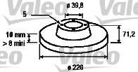 Disque de frein - VALEO - 186517