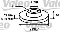 Disque de frein - VALEO - 186529