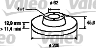 Disque de frein - VALEO - 186530