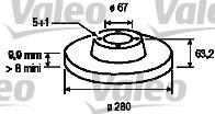 Disque de frein - VALEO - 186552