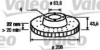Disque de frein - VALEO - 186560