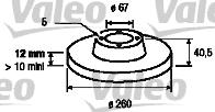 Disque de frein - VALEO - 186562
