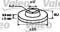 Disque de frein - VALEO - 186565