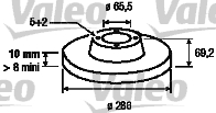 Disque de frein - VALEO - 186566