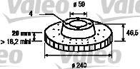 Disque de frein - VALEO - 186571