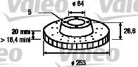 Disque de frein - VALEO - 186572