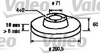 Disque de frein - VALEO - 186579