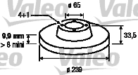 Disque de frein - VALEO - 186581