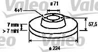 Disque de frein - VALEO - 186586