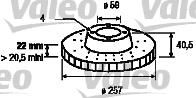 Disque de frein - VALEO - 186590