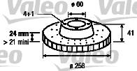 Disque de frein - VALEO - 186592