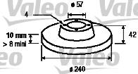 Disque de frein - VALEO - 186594