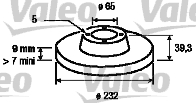 Disque de frein - VALEO - 186597