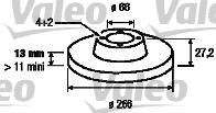 Disque de frein - VALEO - 186599