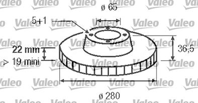 Disque de frein - VALEO - 186604
