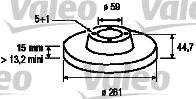 Disque de frein - VALEO - 186605