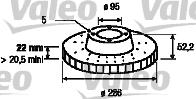 Disque de frein - VALEO - 186618
