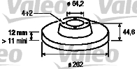 Disque de frein - VALEO - 186620