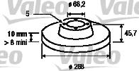 Disque de frein - VALEO - 186624