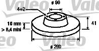 Disque de frein - VALEO - 186647