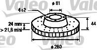 Disque de frein - VALEO - 186655