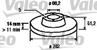 Disque de frein - VALEO - 186687