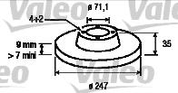 Disque de frein - VALEO - 186694
