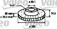 Disque de frein - VALEO - 186695