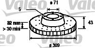Disque de frein - VALEO - 186703