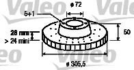 Disque de frein - VALEO - 186712