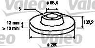 Disque de frein - VALEO - 186713