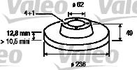 Disque de frein - VALEO - 186714