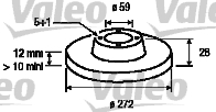 Disque de frein - VALEO - 186724