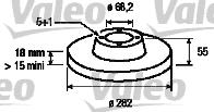 Disque de frein - VALEO - 186725