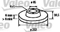Disque de frein - VALEO - 186729